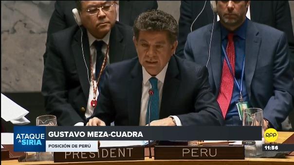 El embajador de Perú ante la ONU expuso la postura del Gobierno ante la crisis en Siria.
