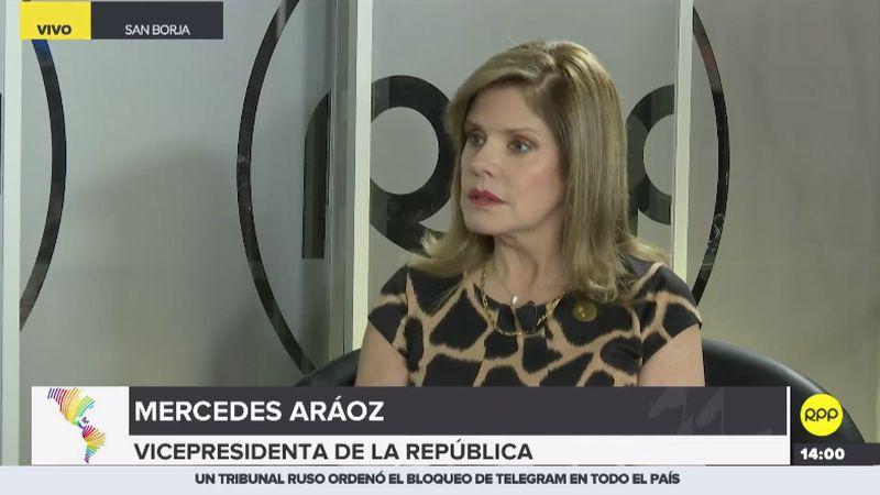 Mercedes Aráoz habló en exclusiva con RPP Noticias.