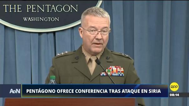Conferencia del Pentágono tras ataque en Siria.
