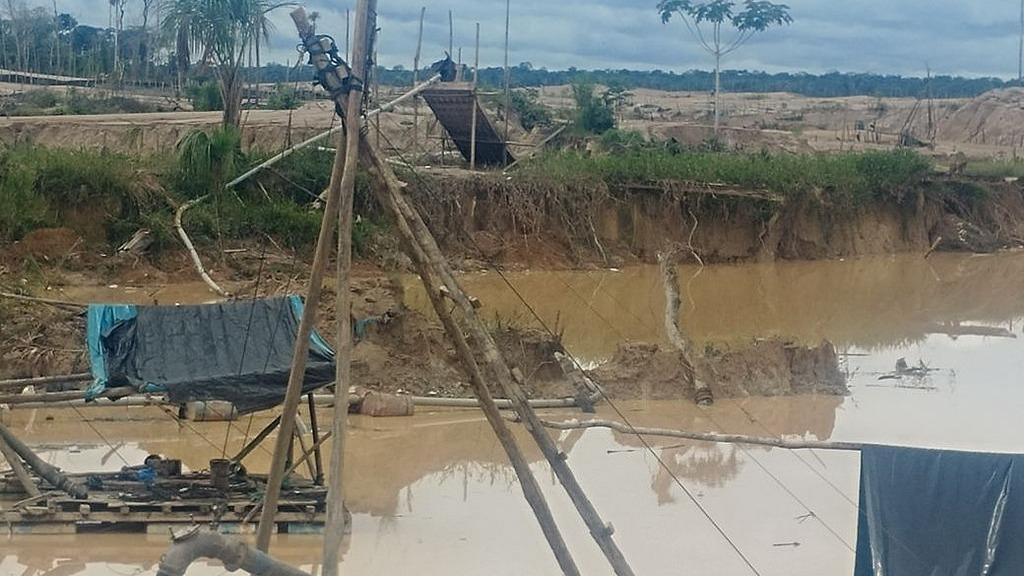 La minería ilegal es uno de los grandes problemas que continúa devastando los bosques en Amazonas.