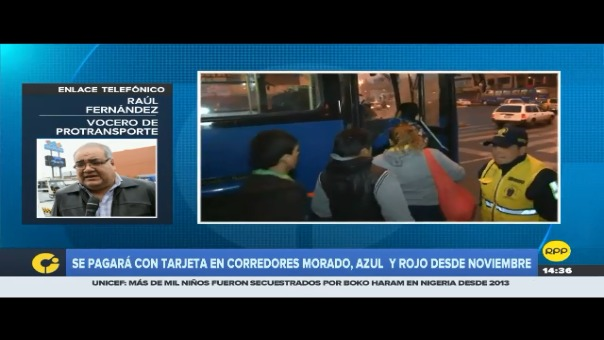 Entrevista a vocero de Protransporte, Raúl Fernández.