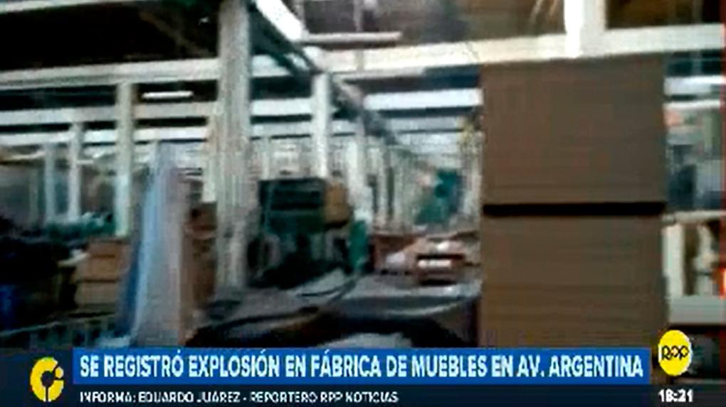 La explosión en Cercado de Lima se produjo durante la tarde de este martes.