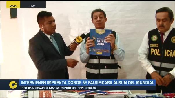 Este es el local que intervino la Policía Fiscal. El coronel Mejía señaló que existen diferencias entre los álbumes falsos y originales.