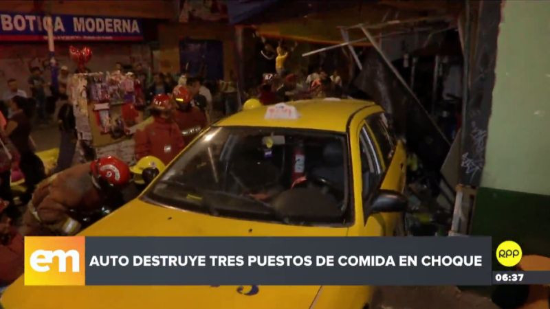 El taxista aseguró que su vehículo sufrió una falla mecánica y no pudo evitar el accidente.