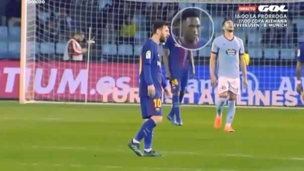Yerry Mina jugó su primer partido de la liga española tras casi 4 meses en Barcelona.
