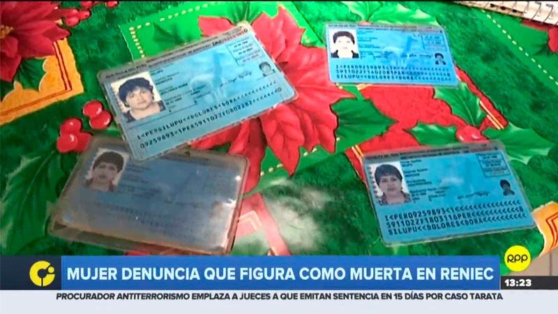 El Reniec dijo que el documento de defunción falso se digitalizó con todo el registro de la Municipalidad de Villa María del Triunfo en 2012.