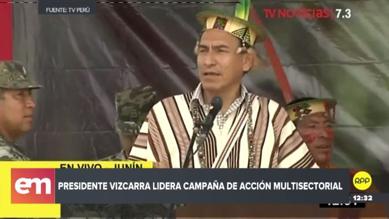 Martín Vizcarra visitó el distrito de Pangoa, en Junín.
