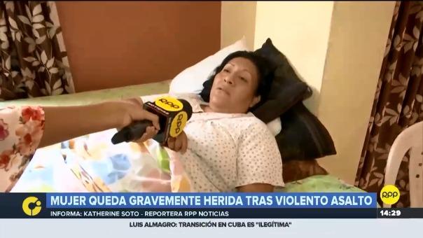 Yanina García no puede caminar aun por los fuertes golpes que sufrió a manos de los delincuentes.