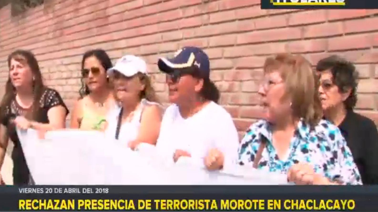 Rechazan presencia de terrorista Morote en Chaclacayo