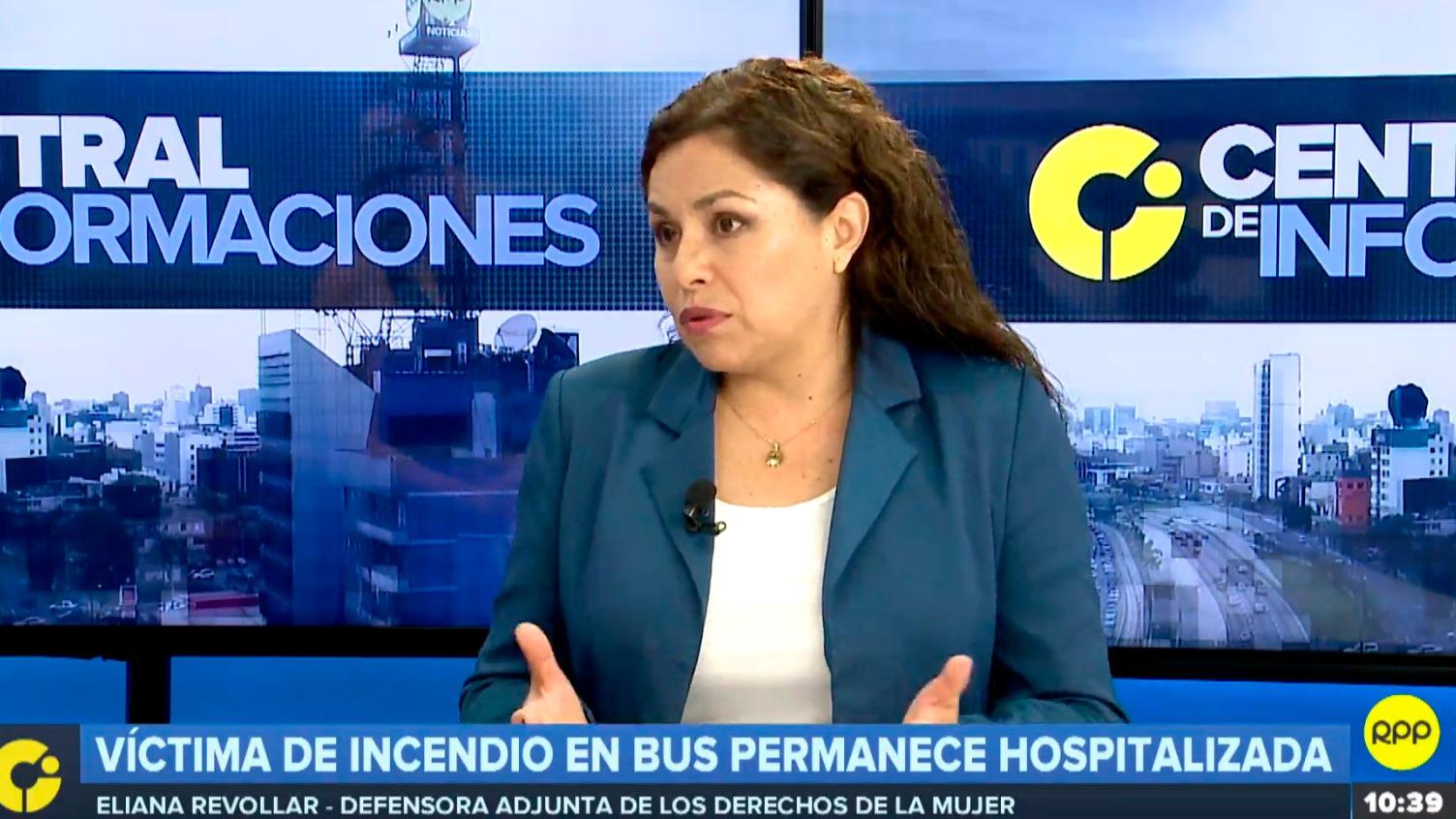La abogada Eliana Revollar analizó la violencia de género en el Perú.