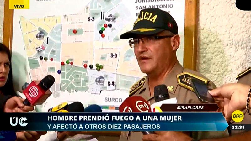 El coronel dijo que la agraviada fue atendida en el hospital Casimiro Ulloa.