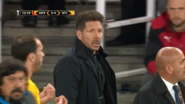 Diego Simeone reaccionó así y por esto vio la roja