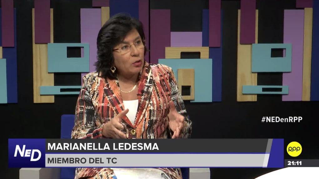 Marianella Ledesma fue una de las magistradas que votó en contra de la liberación de Humala y Heredia.