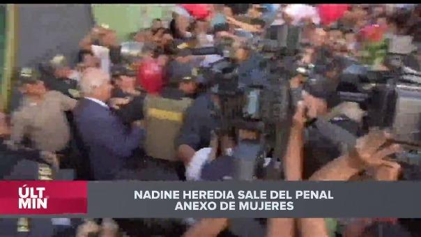 Ndine Heredia salió esta tarde del Penal Anexo de Mujeres de Chorrillos.