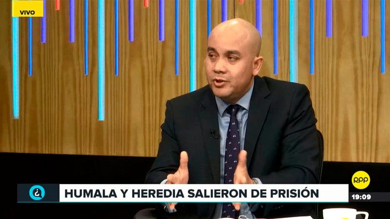 El abogado dijo que no existía peligro de fuga en el caso de Humala-Heredia.