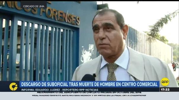 Mario Arribas, abogado del agente policial que intervino en el Centro COmercial Arenales a un hombre de 40 años que posteriormente participó.