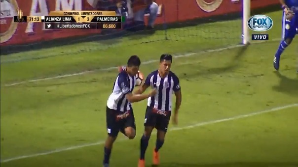 Rinaldo Cruzado anotó el primer gol de Alianza Lima en la Copa Libertadores 2018.