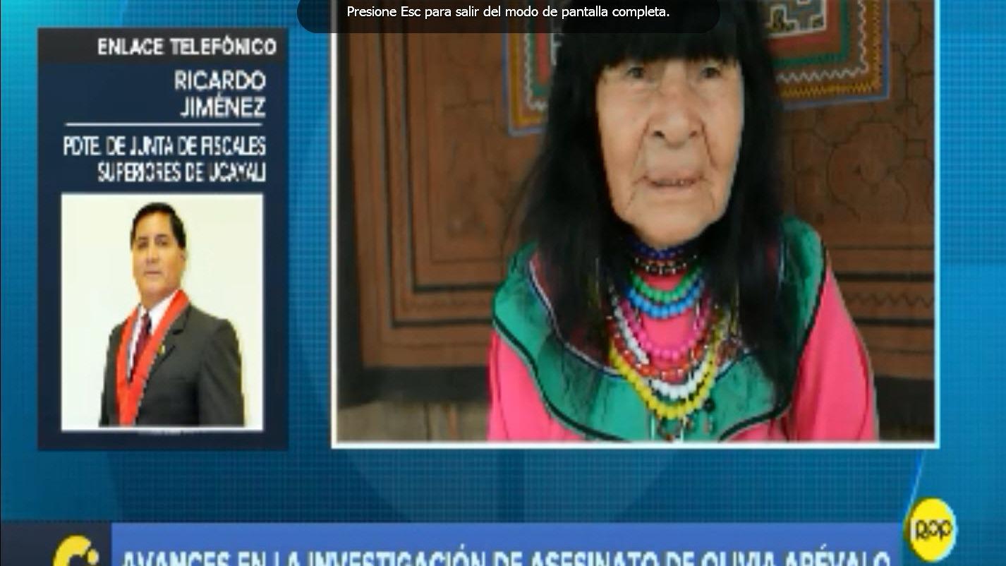 Olivia Arévalo era promotora de los derechos culturales del pueblo indígena shipibo-conibo.