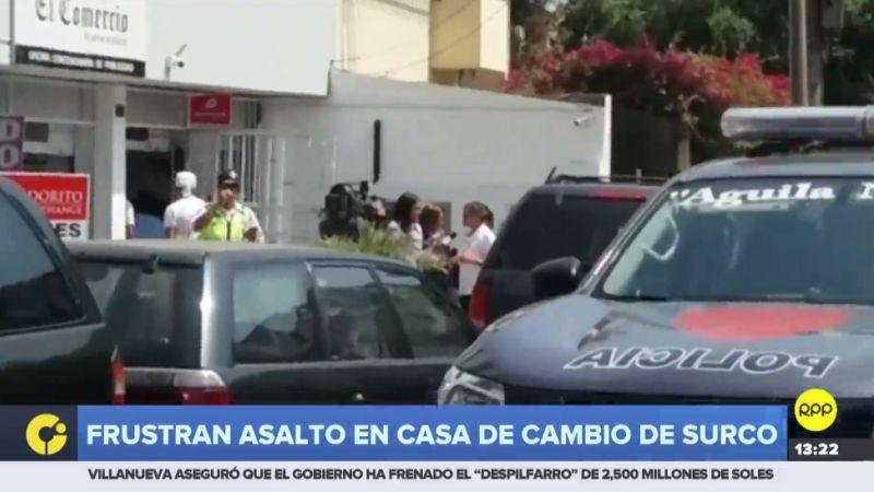 El asalto ocurrió este mediodía en la cuadra 6 de la avenida La Encalada.