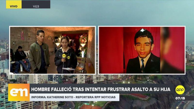 Los restos de Johan Vargas Vargas son velados en su casa en Villa El Salvador.