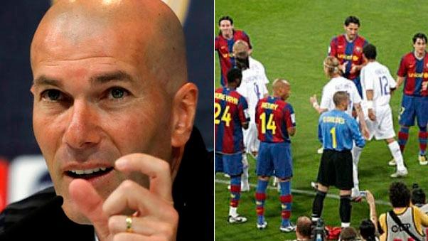 Zinedine Zidane dice que Barcelona no les hizo el pasillo después de ganar el Mundialito.