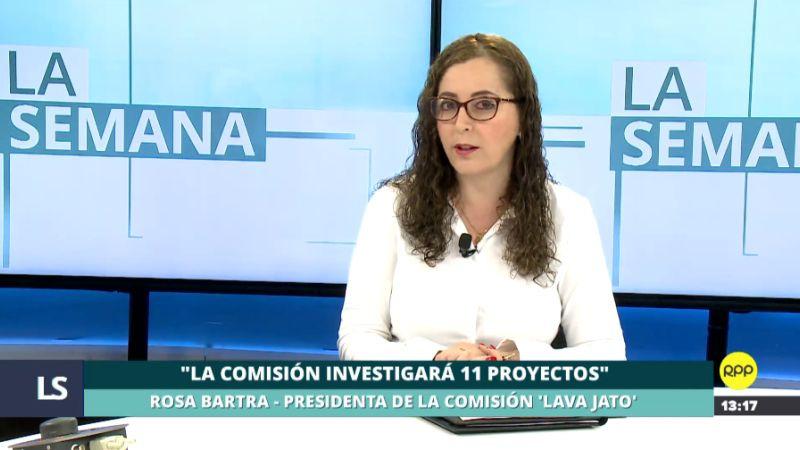 Rosa Bartra estuvo este sábado en el programa La Semana.