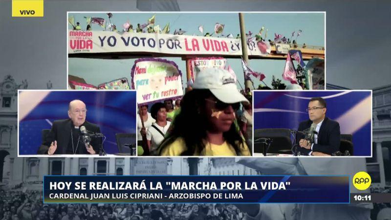 Juan Luis Cipriani aseguró que la 'Marcha por la vida' no es un acto político.