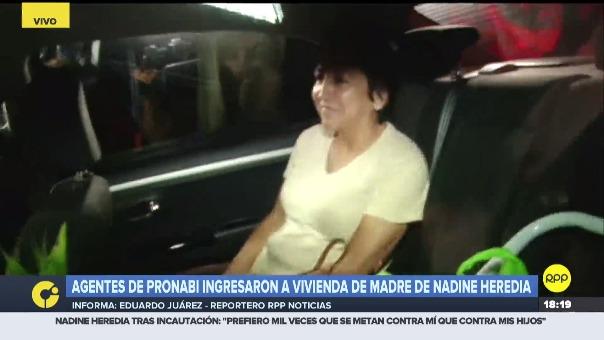 La madre de Nadine Heredia se tuvo que retirar de sus inmueble a pedido de una orden del Poder Judicial.