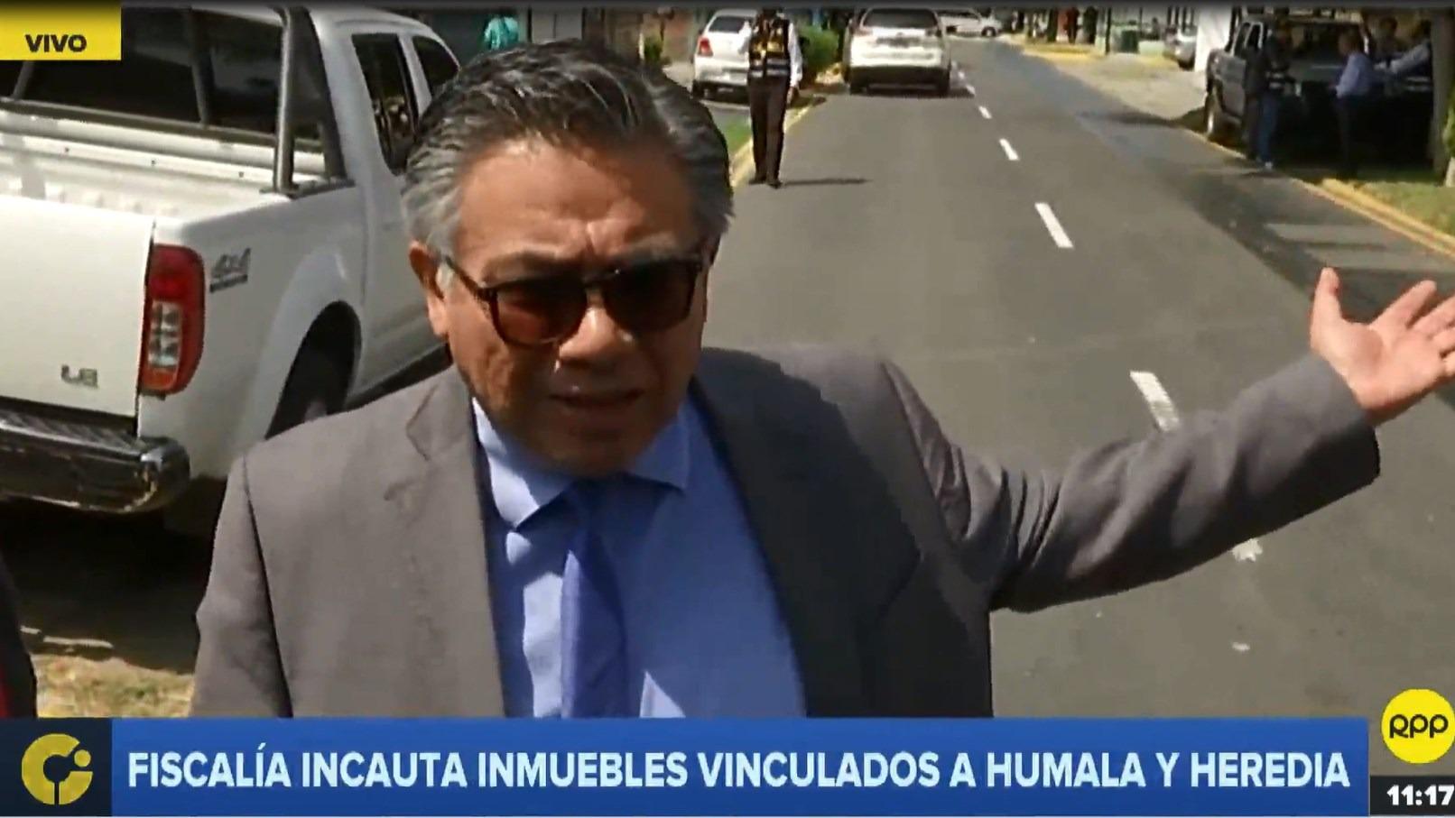 César Nakazaki, abogado de Ollanta Humala, rechazó la incautación de inmuebles relacionados al expresidente y su esposa.