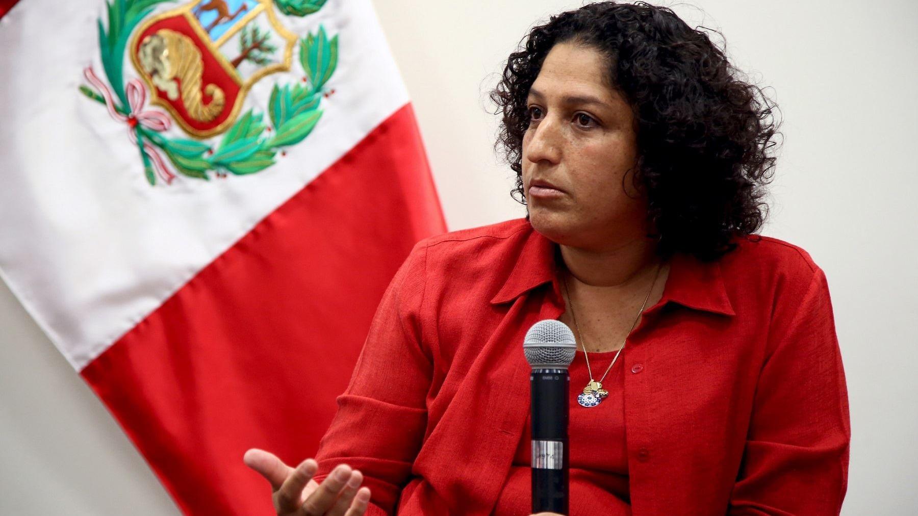 La ministra del Ambiente, Fabiola Muñoz, explicó el proyecto de ley que busca reducir el uso del plástico.