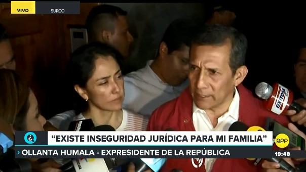 El presidente Ollanta Humala dijo que el sistema de justicia los está tratando a él y a su esposa