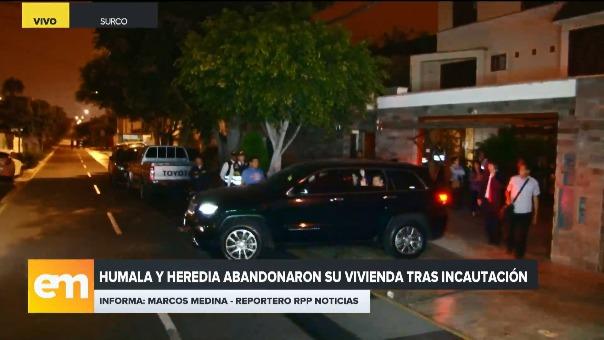 Ollanta Humala y Nadine Heredia dejaron su casa tras la incautación de su vivienda.