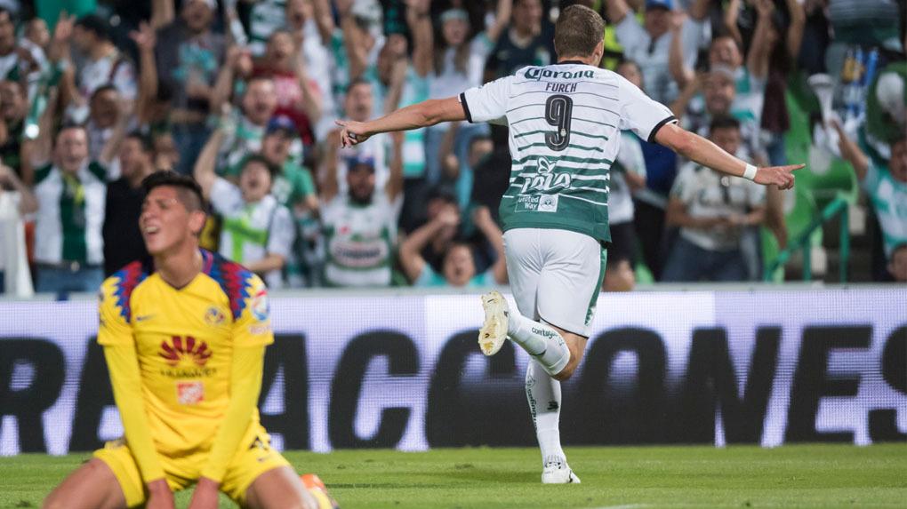 Santos Laguna y América abrieron el telón de las semifinales del Clausura 2018 .