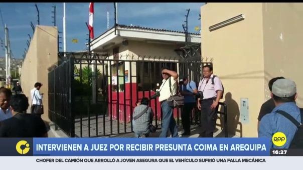 La intervención se realizó en el Módulo de Justicia del distrito de Mariano Melgar en Arequipa.