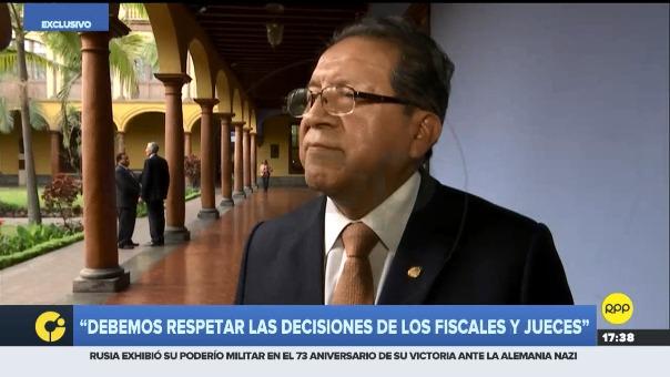 El fiscal de la Nación, Pablo Sánchez, dijo que los fiscales hacen su trabajo y saben lo que hacen.