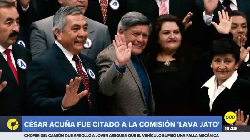 César Acuña fue citado por la Comisión Lava Jato para este 15 de mayo.