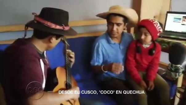Fernando Valencia y su hijo Dilan de 8 años de edad, son los que le dan voz a Héctor y Miguel, en la famosa película Coco.