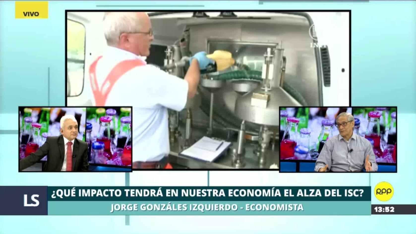 Jorge González Izquierdo analizó el impacto que tendrá en la economía el alza del ISC.