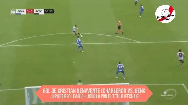 Cristian Benavente ha marcado 9 goles en esta temporada en la liga de Bélgica.