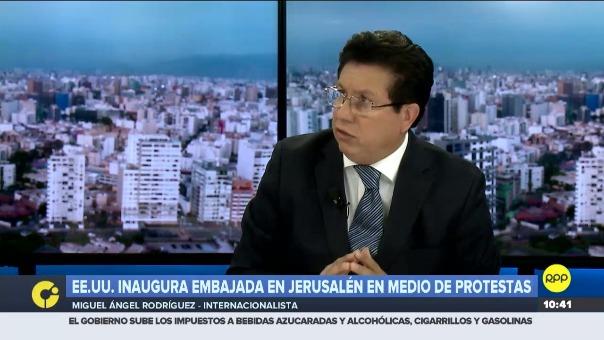 El internacionalista Miguel Ángel Rodríguez en RPP.