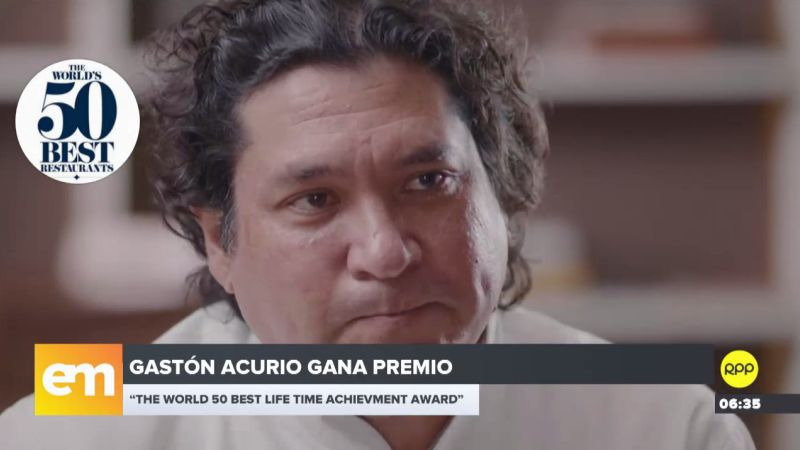 Gastón Acurio recibirá el Diners Club Lifetime Achievement Award.