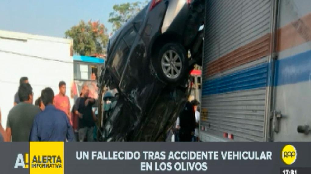 El accidente de tránsito ocurrió alrededor de las cuatro de la tarde.