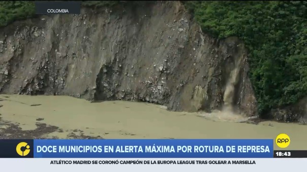 Represa debilitada por crecimiento de río Cauca pone en riesgo a cientos de pobladores en Antioquía.