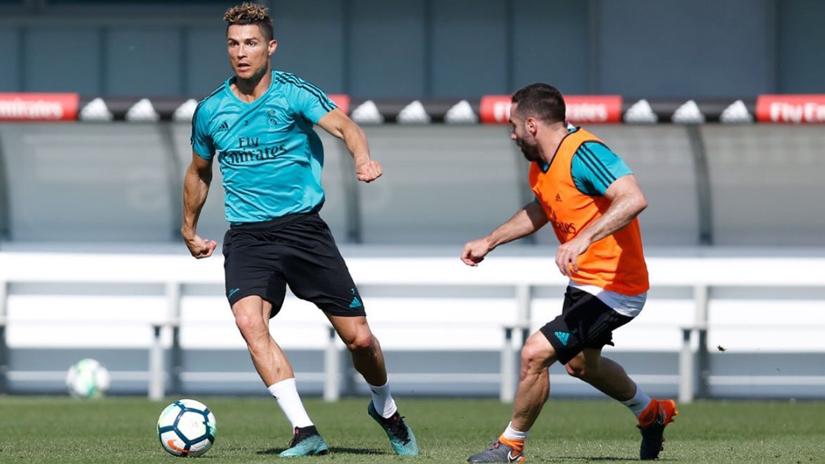 Cristiano Ronaldo entrena sin problemas de cara a la final de la Champions.