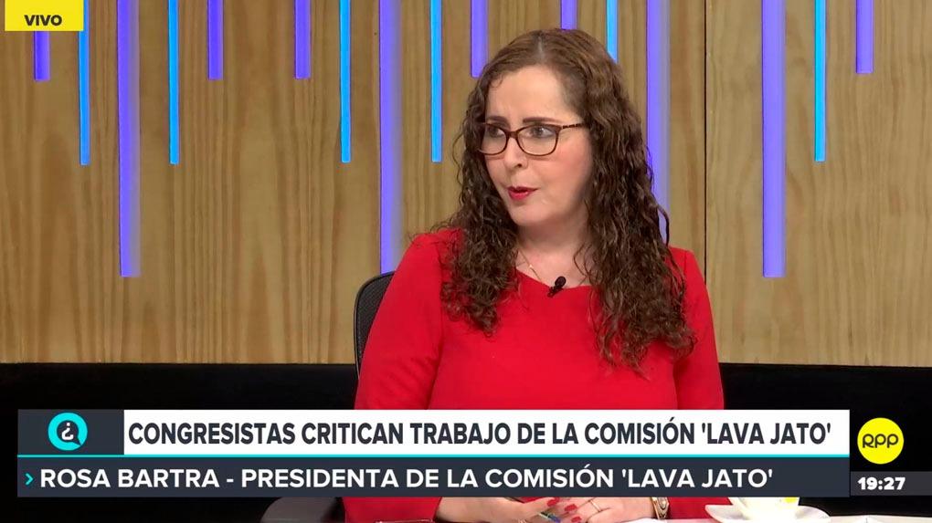 Rosa Bartra, titular de la Comisión Lava Jato, comenta los cuestionamientos al grupo de trabajo en ¿Quién Tiene la Razón? en RPP Noticias.