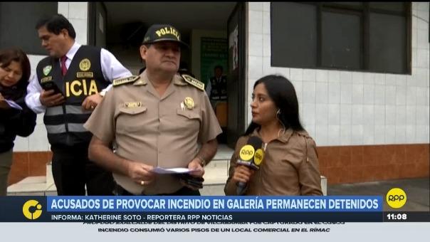 El coronel Francisco Náquira, jefe de la División Policial Norte, habló con RPP Noticias sobre el incendio.