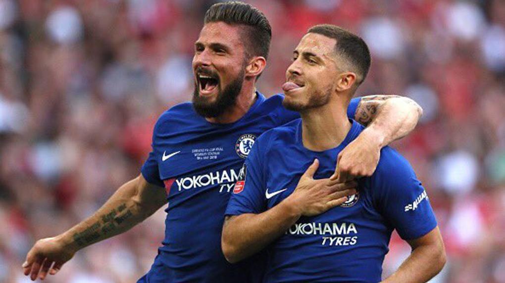 Eden Hazard llegó a los 17 goles con la camiseta del Chelsea esta temporada.