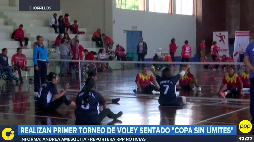 Se realizó el primer torneo de vóley sentado Copa Sin Límites en Chorrillos.