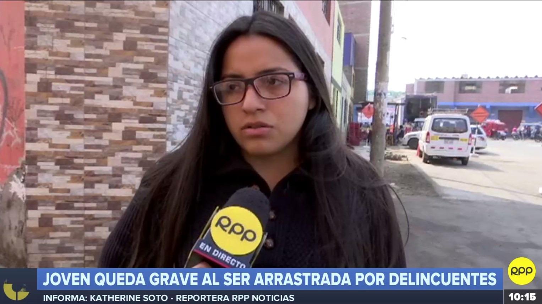 Luz Cedano explicó a RPP Noticias la agresión que sufrió su hermana el sábado en la madrugada.