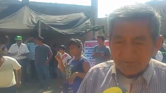 Presidente del pueblo joven San José Obrero, pide que se les respete sus derechos.